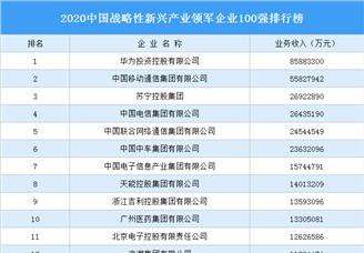 2020中國戰略性新興產業領軍企業100強排行榜(附完整榜單)