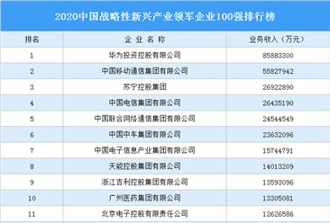 2020中国战略性新兴产业领军企业100强排行榜(附完整榜单)