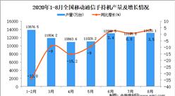 2020年1-8月中国手机产量数据统计分析