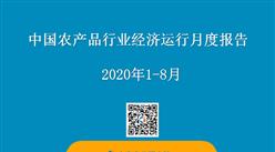 2020年1-8月中国农产品行业经济运行月度报告(附全文)