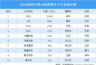 2020胡润中国10强消费电子企业排行榜(附榜单)