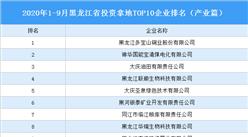 产业地产投资情报:2020年1-9月黑龙江省投资拿地TOP10企业排名(产业篇)
