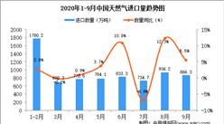2020年9月中国天然气进口数据统计分析