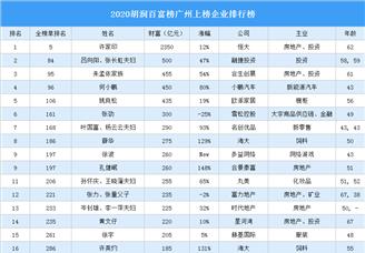 2020胡润百富榜广州上榜企业家排行榜