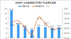 2020年9月新疆化学纤维产量数据统计分析