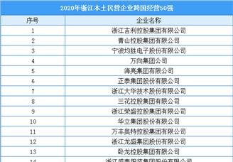2020年浙江本土民营企业跨国经营50强排行榜