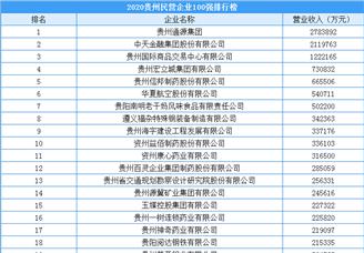 2020年贵州省民营企业100强排行榜(附完整榜单)