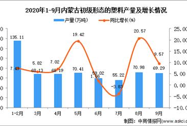 2020年9月内蒙古初级形态的塑料产量数据统计分析