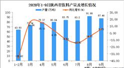 2020年9月陕西省饮料产量数据统计分析