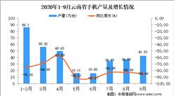 2020年9月云南省手机产量数据统计分析