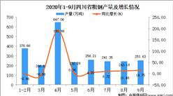 2020年9月四川省粗钢产量数据统计分析