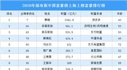 2020年福布斯中国富豪榜上海上榜富豪排行榜