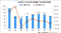 2020年9月重庆市粗钢产量数据统计分析