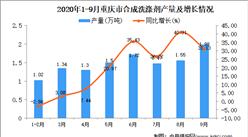 2020年9月重庆市合成洗涤剂产量数据统计分析