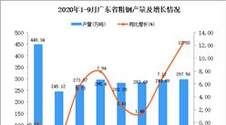 2020年9月广东粗钢产量数据统计分析