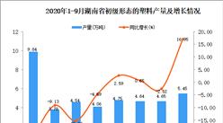 2020年9月湖南省初级形态的塑料产量数据统计分析