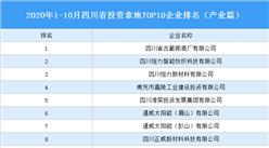 产业地产投资情报:2020年1-10月四川省投资拿地TOP10企业排名(产业篇)