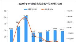 2020年9月湖南省發動機產量數據統計分析
