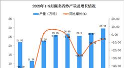 2020年9月湖北省纱产量数据统计分析