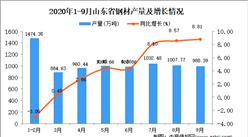 2020年9月山东省钢材产量数据统计分析