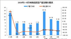 2020年9月河南省原盐产量数据统计分析