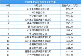 2020年山东省综合百强企业排行榜(附完整榜单)
