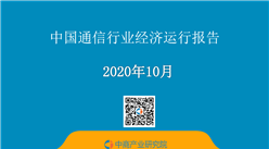 2020年1-10月中国通信行业经济运行月度报告(附全文)