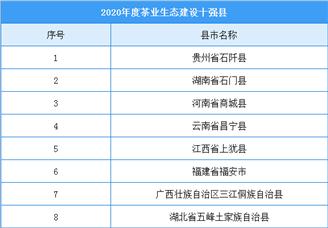 2020年度茶业生态建设十强县(附全名单)