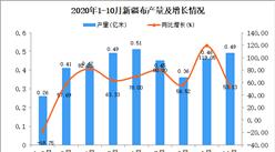 2020年10月新疆布产量数据统计分析