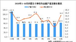 2020年10月内蒙古十种有色金属产量数据统计分析