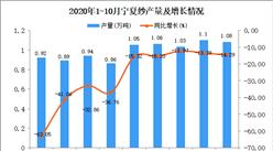 2020年10月宁夏纱产量数据统计分析