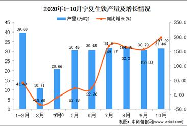 2020年10月宁夏生铁产量数据统计分析