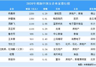 2020年胡润中国女企业家排行榜