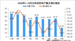 2020年10月吉林省饮料产量数据统计分析