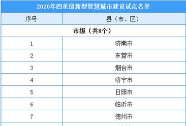 山东省第二批新型智慧城市建设试点名单出炉:24地入选(附名单)