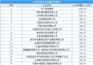 2020年南京市百强企业排行榜(附完整榜单)