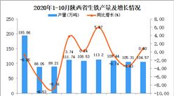 2020年10月陕西省生铁产量数据统计分析