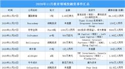 2020年11月教育领域投融资情况分析:豌豆思维受资本青睐(附完整名单)