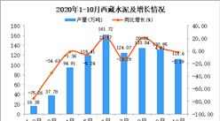 2020年10月西藏水泥产量数据统计分析