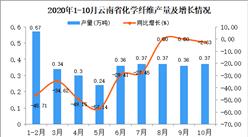 2020年10月云南省化学纤维产量数据统计分析