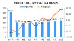 2020年10月云南省生铁产量数据统计分析