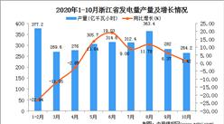 2020年10月浙江省发电量数据统计分析