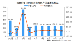 2020年10月四川省粗钢产量数据统计分析