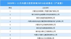产业地产投资情报:2020年1-11月内蒙古投资拿地TOP10企业排名(产业篇)