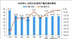 2020年10月山东省纱数据统计分析