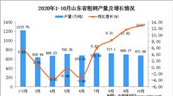 2020年10月山东省粗钢数据统计分析