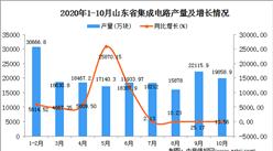 2020年10月山东省集成电路数据统计分析