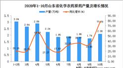 2020年10月山东省化学农药原药数据统计分析