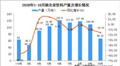 2020年10月湖北省饮料产量数据统计分析