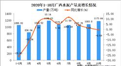 2020年10月广西水泥产量数据统计分析